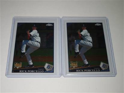 2009 TOPPS CHROME RICK PORCELLO ROOKIE CARD LOT