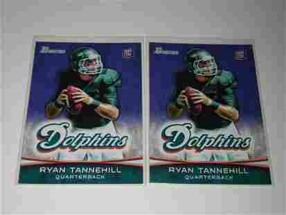 2012 BOWMAN FOOTBALL RYAN TANNEHILL ROOKIE CARD LOT X 2