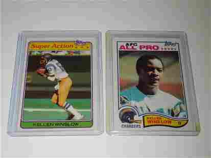1981 & 1982 TOPPS FOOTBALL KELLEN WINSLOW SR CARD LOT