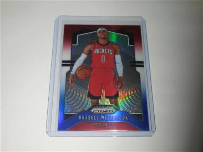 2019-20 PANINI PRIZM RUSSELL WESTBROOK RED WHITE BLUE