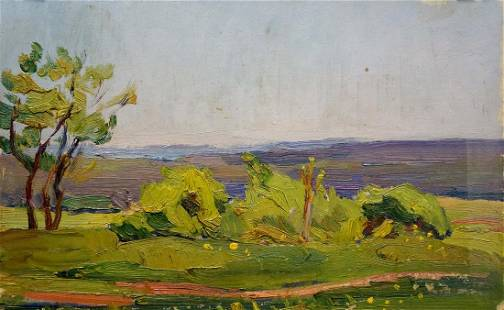 Oil painting Summer day