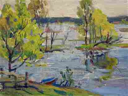 Oil painting Natural landscape