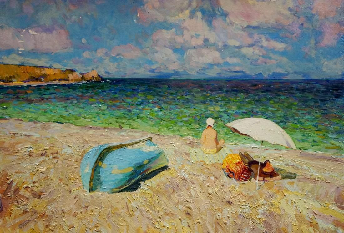 Oil painting Couple by the sea Efimenko Victor