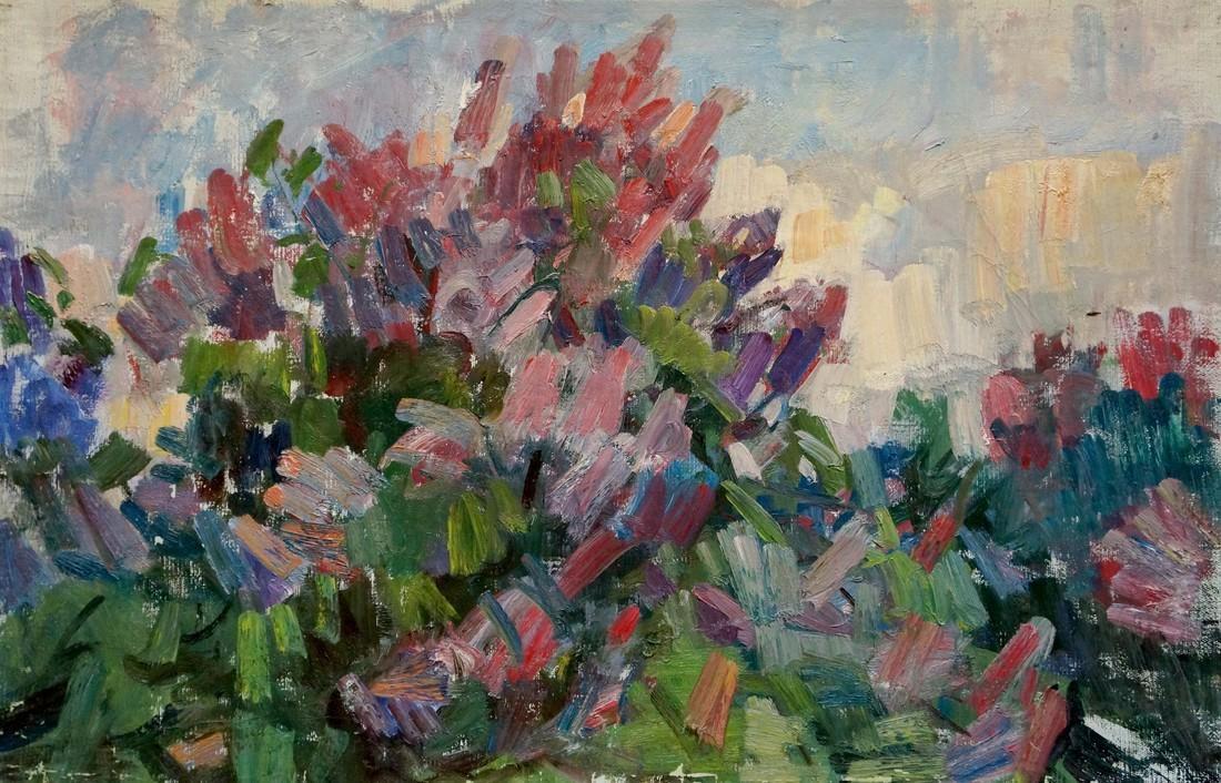 Oil painting Spring Naumova Tamara Sergeevna