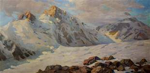 Oil painting Sevets Victor Stepanovich Mountain