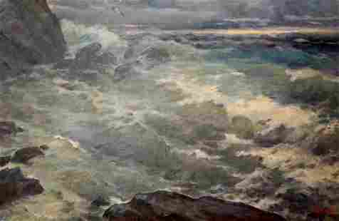 Oil painting Storm Basov Yakov Alexandrovich