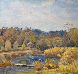 Oil painting Autumn Tyukha Ivan Andreevich