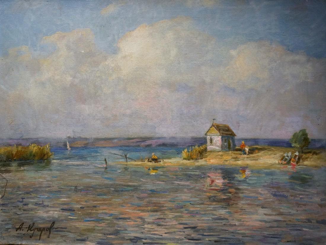 Oil painting Landscape with a bay Kucherov Alexander