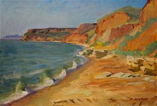 Oil painting Kravtsov Nikolay Fedorovich Shore and