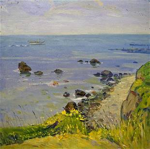 Oil painting By the sea Tyukha Ivan Andreevich
