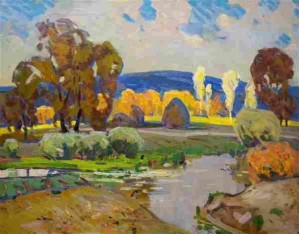 Oil painting Autumn landscape Tyukha Ivan Andreevich
