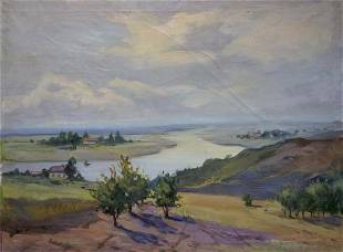 Oil painting Beautiful view