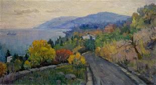 Oil painting Odessa landscape Matyushin N.
