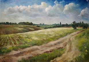 Oil painting Summer day Golubtsov Oleg Georgievich