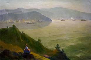 Oil painting Odessa landscape
