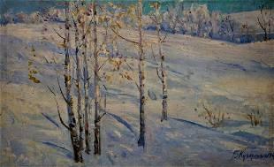 Oil painting Winter landscape Kucherenko Vladimir