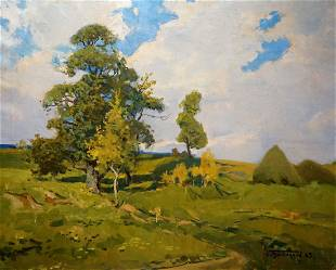 Oil painting Windy day Turovetsky Leonid Markovich