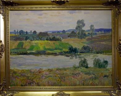 Oil painting It is getting dark Odainik Vadim Ivanovich