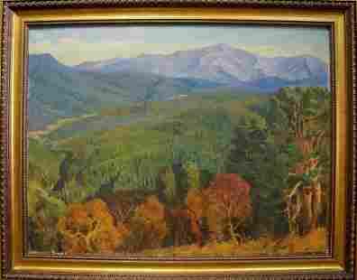 Oil painting Autumn in the mountains Ternovykh Vladimir