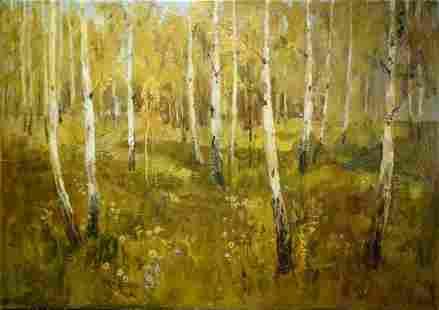 Oil painting Birch forest Fedorchenko Vladimir