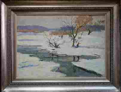 Oil painting Winter Kogan Boris Matveevich