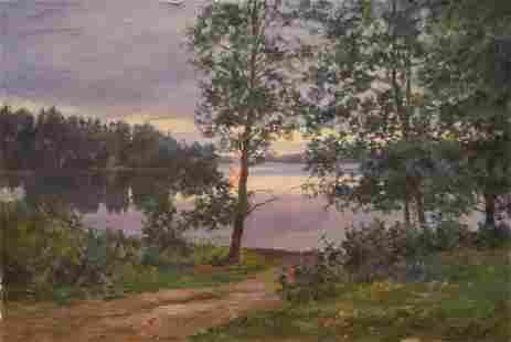 Oil painting Sunset Petrov Boris Stepanovich