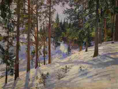 Oil painting Winter Petrov Boris Stepanovich