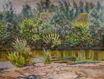 Oil painting River landscape Chernikov Nikolay