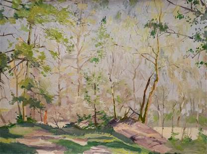 Oil painting Forest park Chernikov Nikolay