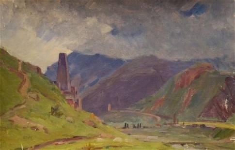 Oil painting To the rain Chernikov Nikolay