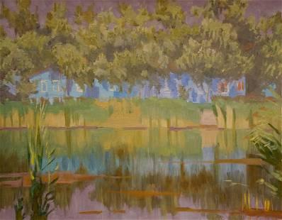 Oil painting By the river Chernikov Nikolay
