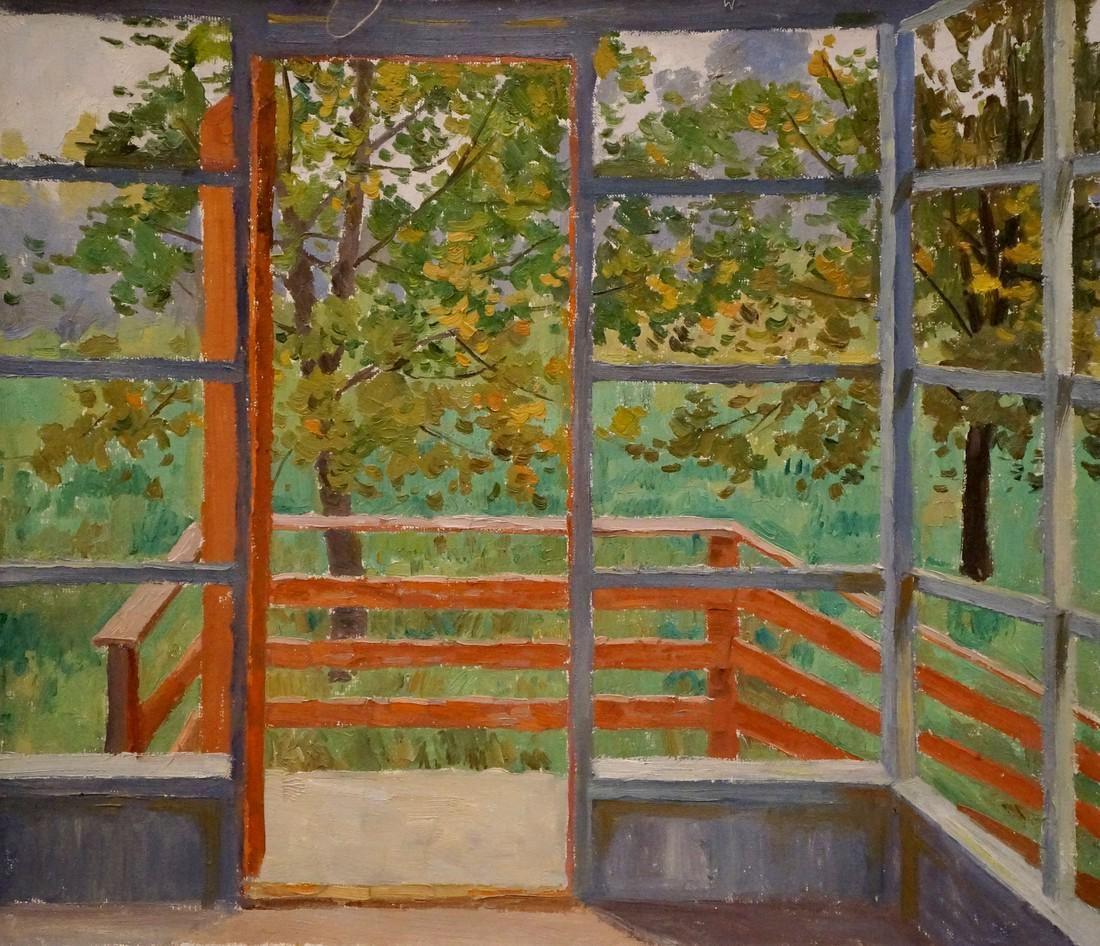 Oil painting Terrace Chernikov Nikolay Vladimirovich
