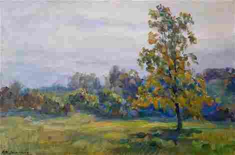 Oil painting Lonely tree Kovalenko Ivan Mikhailovich