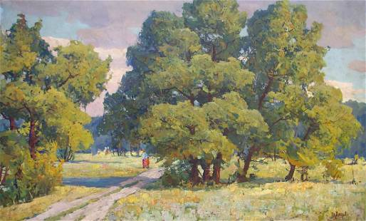 Oil painting Landscape Khitrova Tamara Alexandrovna