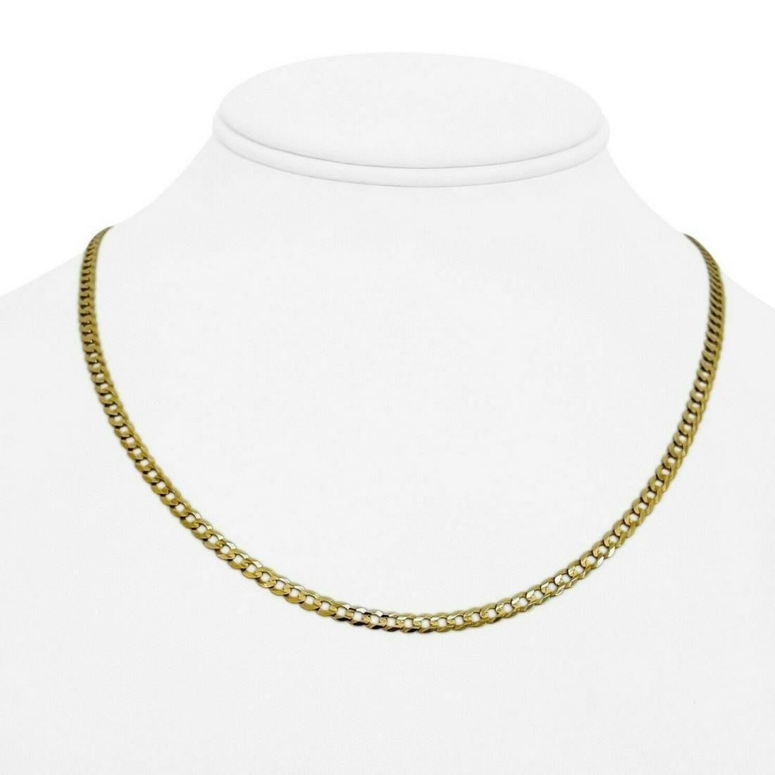 4k Yellow Gold 6.9g Thin Flat 3.5mm Curb Link Chain