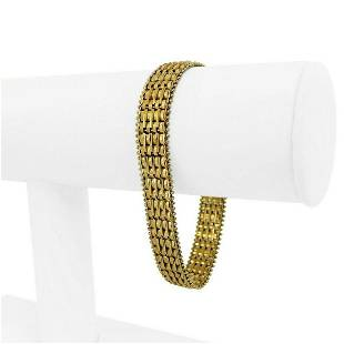 14k Yellow Gold 21.5g Solid 11mm QVC Imperial Gold