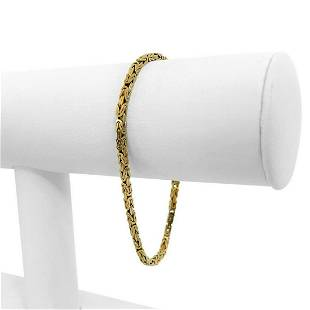 14k Yellow Gold 8.1g Solid 2.5mm Squared Byzantine Link