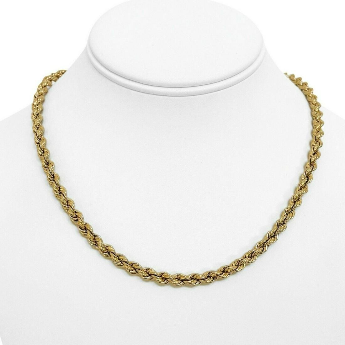 14k Yellow Gold 14g Light Hollow 5mm Rope Chain