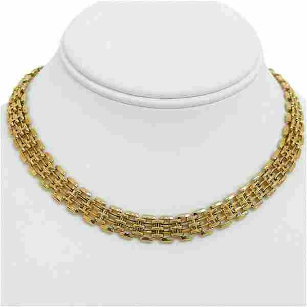 14k Yellow Gold 32g Ladies Fancy 10mm Panther Bar Link