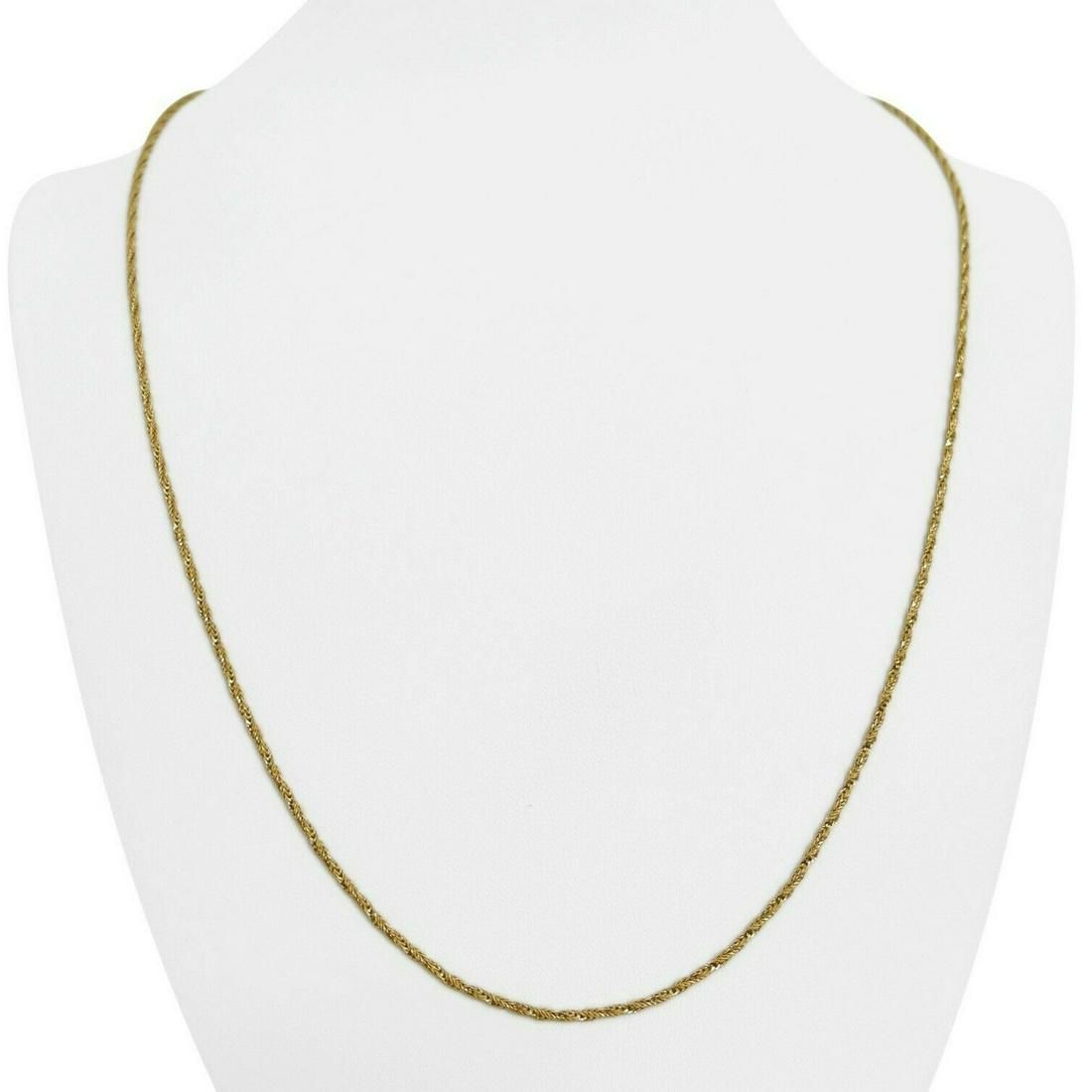 18k Yellow Gold 7.4g Sparkling 1.5mm Twisted Fancy Rope