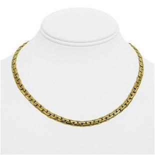 18k Yellow Gold 17.6g Ladies Thick 4mm Cobra Link Chain