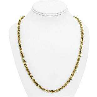 10k Yellow Gold 37.2g Solid 5mm Michael Anthony Rope