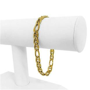 14k Yellow Gold 10.8g Hollow Men's 7mm Figarucci Link