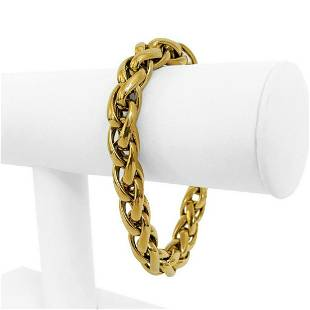 18k Yellow Gold 18g Thick Light 10mm Ladies Wheat Link