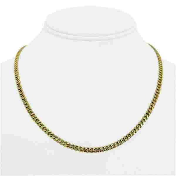 10k Yellow Gold 6.2g Hollow Light 3.5mm Ladies Curb