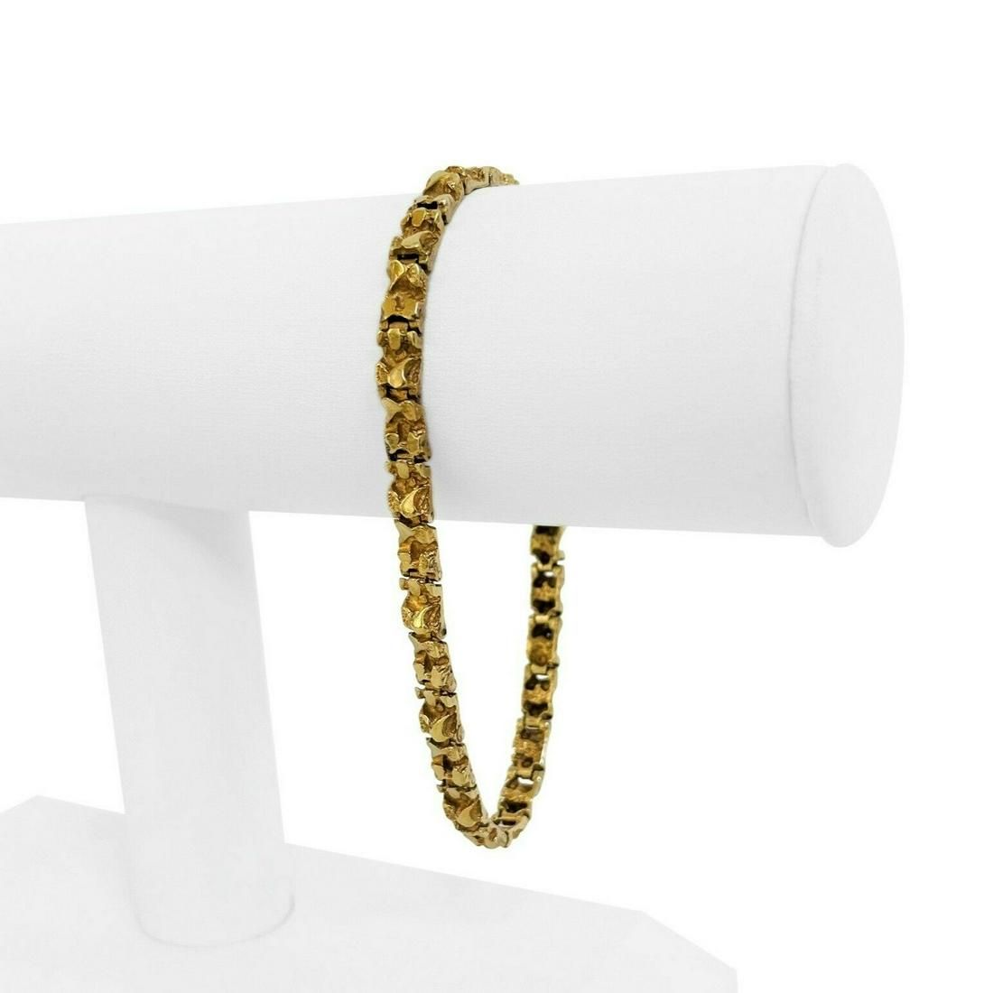 14k Yellow Gold 14.5g Solid 5mm Chunky Nugget Link