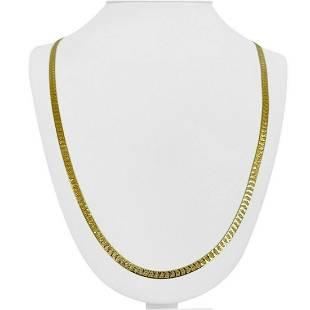 14k Yellow Gold 17.7g Solid 4mm Diamond Cut Herringbone
