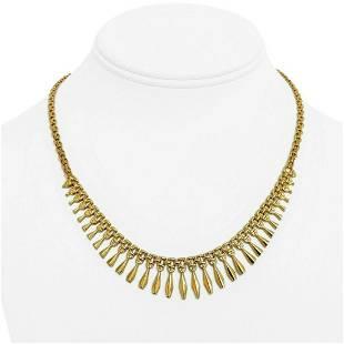 14k Yellow Gold 11.8g Ladies Vintage Fancy Fringe Drop