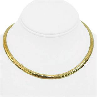 14k Yellow Gold 30g Solid Ladies 6mm Domed Omega Link