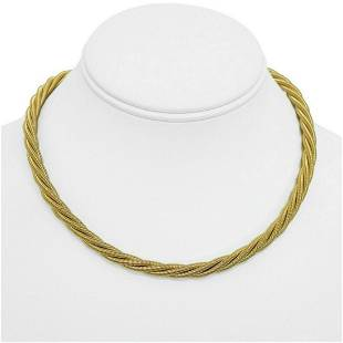 14k Yellow Gold 53.5g Heavy 6mm Twisted Rope Snake Link